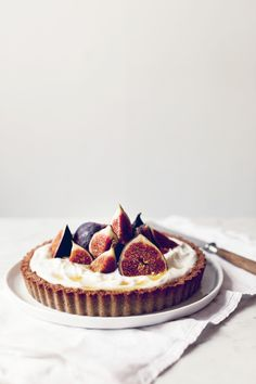 Recipe: fig and buckwheat breakfast tart. Yes, this is a breakfast food and yes it is good for you.