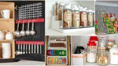 18 Ucuz mutfak eşyaları düzenleme fikirleri