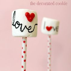 Valentine's Sweets on Sticks by Meaghan Mountford #valentinesday #valentines
