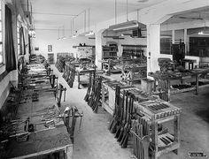 Antigua fábrica de V. Bernardelli - Montaje de escopetas