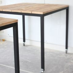 Hand made wooden table by studiofien.nl