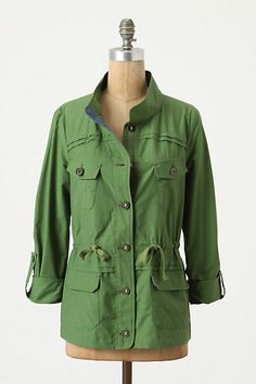 Just bought this perfect layering jacket. One of the few items I've found recently that flatters a short torso. And it was on sale, too! Ripstop anorak from Anthropologie.