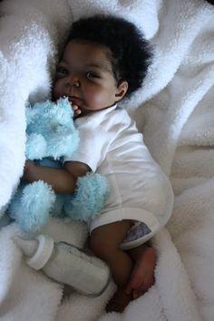 Incredababies a/a african american ethnic bi-racial reborn baby ...