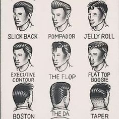 rockabilly Men's Hairstyles - Yahoo Image Search Results rockabilly Herrenfrisuren - Yahoo Image Look Rockabilly, Rockabilly Fashion, Rockabilly Hair Men, Popular Haircuts, Haircuts For Men, Men's Haircuts, Vintage Hairstyles For Men, Vintage Haircuts, Boy Hairstyles