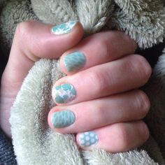 Springtime Jamicure! Jamberry Destiny, Lotus, and Teal and White Polka