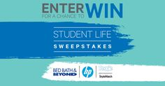 Calling all Parents AND Students: Enter NOW for your chance to win our GRAND PRIZE: Over $5,000 in HP Products + $5,000 Bed Bath & Beyond® Shopping Spree* + 4 year subscription to PEOPLE or STYLEWATCH. Ends 8/31/2016.