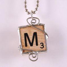 Scrabble Letter M Pendant $20