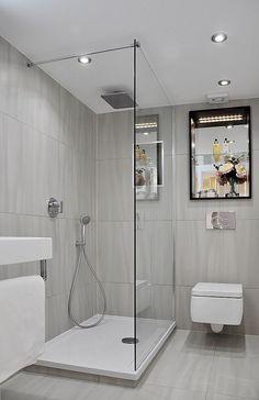 42 ideen fr kleine bder und badezimmer bilder - Lampe Fur Begehbare Dusche