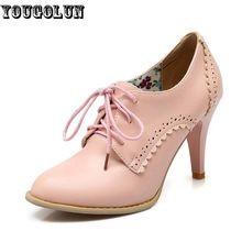 YOUGOLUN Sexy Mulheres Rendas até Sapatos De Salto Alto (9 cm) moda Mulher Sapatos de Festa Elegante Senhora Apontou Toe Salto Fino Bombas Preto Rosa Branco(China (Mainland))