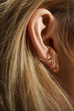 TWIN MAXI EAR CUFF - ROSA GULD - Maria Black