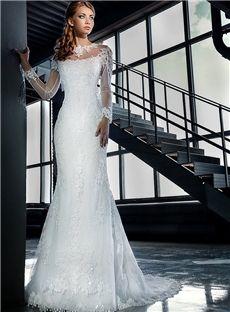 All Sizes Hall Garden/Outdoor Summer Floor-Length Court Fall Trumpet/Mermaid Wedding Dress