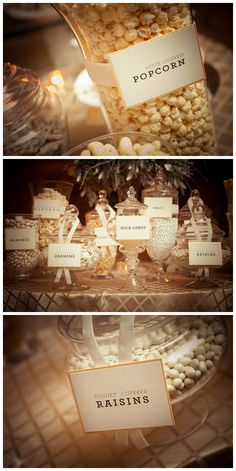 Snack bar as a party favor with paper doily cones