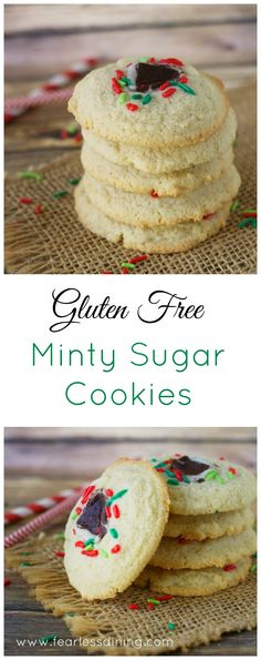 This recipe for gluten free minty sugar cookies is a fool proof. You can even freeze dough for later! http://www.fearlessdining.com