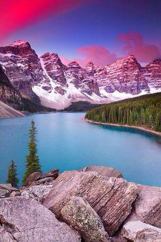 Lago Moraine al amanecer | Canadá.