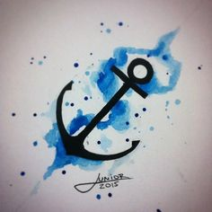 Anchor - watercolor