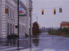 Blackwell Street Durham by Lori White Oil ~ 18 x 24