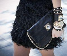 Toughen up your look with biker style accessories...