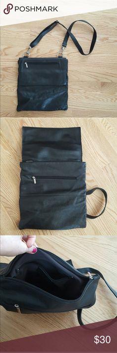 Black Leather Shoulder Bag See 4th photo for description! Bags Shoulder Bags