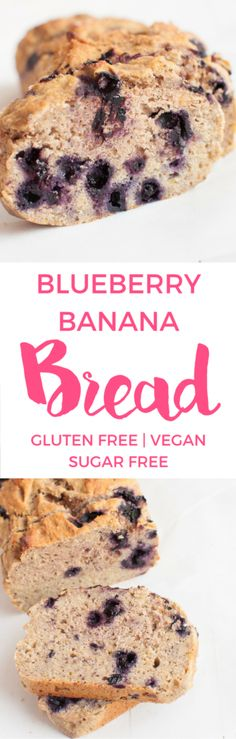 Blueberry Banana Bread | Gluten free | Sugar Free Baking | Healthy baking | Vegan Baking