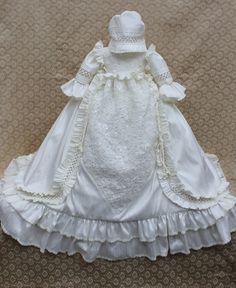 Victorian Gown/Heirloom Christening Silk by ElenaCollectionUSA, $575.00