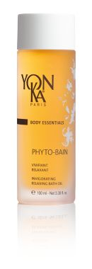 PHYTO-BAIN (RELAXING)   The YON-KA Signature revitalizing and relaxing bath A GENUINE Spa effect at home with this highly concentrated aromatic bath treatment with plant extracts and essential oils known for their multiple THERAPEUTIC virtues. Vitalizing, RESTORES full vitality, relieves tired legs and gives the whole body a feeling of well-being and relaxation.