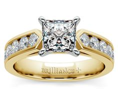 Princess Channel Diamond Engagement Ring in Yellow Gold  http://www.brilliance.com/engagement-rings/channel-diamond-ring-yellow-gold-3/4-ctw