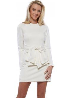 43bacd58c822 Lavish Alice White Tie Detail Long Sleeve Mini Dress Lavish Alice Dress