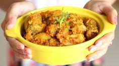 Bharwa Karela with Besan stuffed karela potato sabji recipe - authentic bharwa karela sabji prepared in onion tomato punjabi gravy. step by step recipe. Veg Recipes, Curry Recipes, Potato Recipes, Indian Food Recipes, Vegetarian Recipes, Cooking Recipes, Gujarati Recipes, Recipes With Bread Slices, Potato Sabji