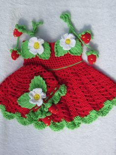 Handmade Baby Girl Crochet Dress and Hat Set by MagicalStrings, $57.00
