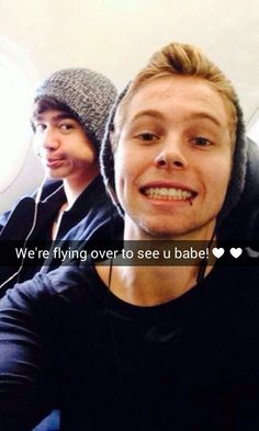 Snapchat imagine. Luke is your boyfriend and now that they're on break from tour, him and Calum are coming to visit you  Edit by @5SOSTallyMark