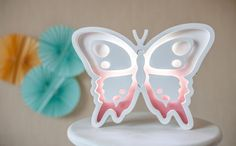Butterfly night light light Kids lamp Nursery night by Bukvamd