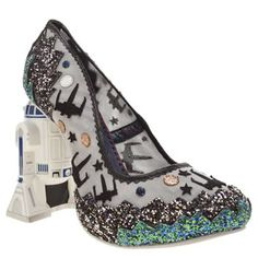 1d5989eac3d0 Irregular Choice Silver   Black Battle With Artoo Womens High Heels Kids  Shoes Online