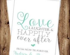 Love Laughter & Happily Ever After - Custom Wedding Bag - Candy Bags -- Wedding Candy Bag - Personalized - Candy Buffet Bags - 41