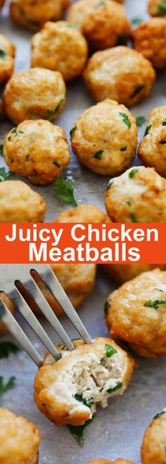 Healthy Recipes, Cooking Recipes, Meat Recipes, Delicious Recipes, Ground Chicken Meatballs, Healthy Chicken Meatballs, Chicken Meatball Recipes, Ground Chicken Recipes Easy, Oven Chicken