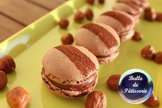 Recette : macarons chocolat au lait-noisettes