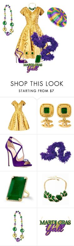 """Mardi Gras"" by jeanne-lemaire-romero ❤ liked on Polyvore featuring Chanel, Dsquared2, Amrita Singh, women's clothing, women's fashion, women, female, woman, misses and juniors"