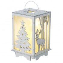 Led Wooden Lantern