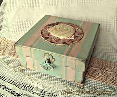 Vintage romantic shabby chic volleyball box bz Adisa Lisovac Decoupage
