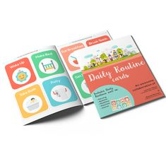 Print these daily routine picture cards for kids! Eliminate power battles, nagging and reminding during morning, bedtime, meal, play and chore routines!