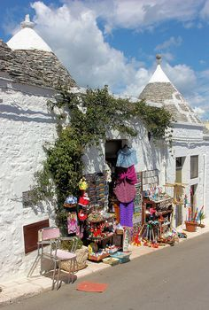 Alberobello in the Puglia region of southern Italy is best known for its trulli, whitewashed, cone-shaped houses and shops.