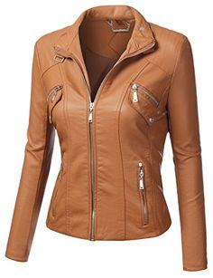 J.TOMSON Womens Faux Leather Bomber J... $25.00