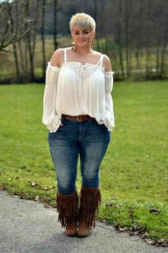 Boho top...Curvy Girl outfit