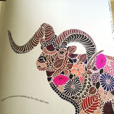 Dall Ram from Millie Marotta Animal Kingdom Colouring Book