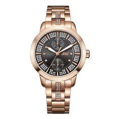 JBW Women's J6341A Lumen 0.06 ctw 18K Rose Gold-Plated Stainless Steel Diamond Watch