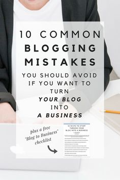 Turning your blog into a business is a bit more complex than people think, but it can also be really fun and rewarding. If you want to turn your blog into a business, make sure you avoid these 10 common mistakes so you can pave the way for success!