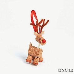Cork Reindeer Christmas Ornament Craft Kit