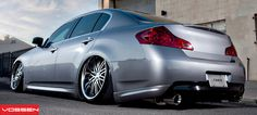 Low and smooth Infinity sittin on Vossen wheels style - Black Machined - F: / R: Sport Truck, Sport Cars, Skyline Gt, Nissan Skyline, Infiniti G37x, G37 Sedan, Clarendon Hills, Hype Shoes, Car In The World