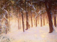 Pines Jewelled, huile sur toile de Walter Launt Palmer (1854-1932, United States)