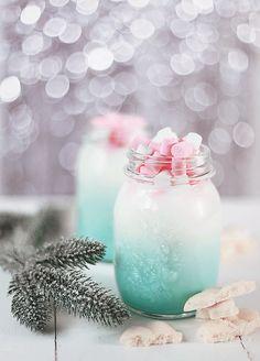 • white chocolate • milk • mint syrup • mini marshmallows