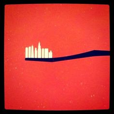 toothbrush city skyline